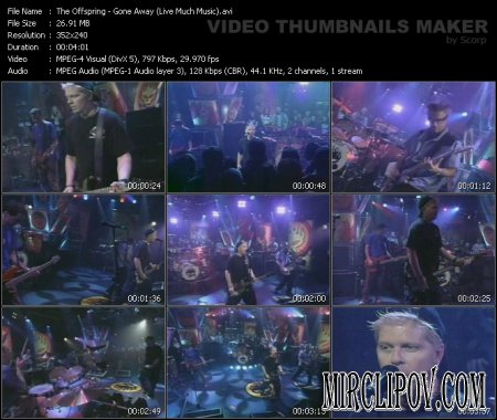 The Offspring - Gone Away (Live Much Music)