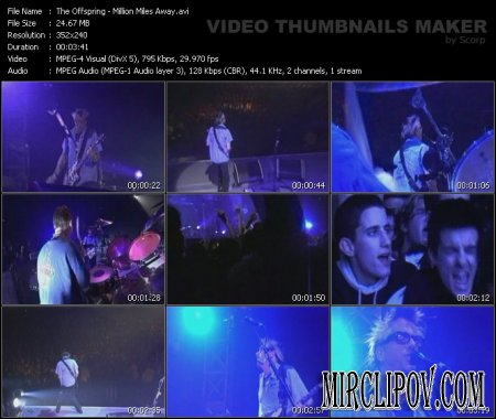 The Offspring - Million Miles Away (live)