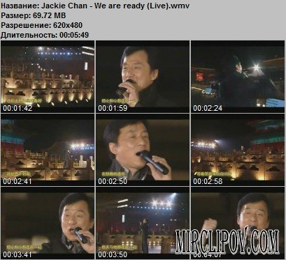 Jackie Chan - We Are Ready (Live)