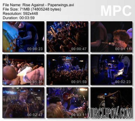 Rise Against - Paperwings (live)
