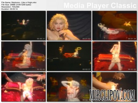 Madonna - Like A Virgin (Live, Blond Ambition Tour)