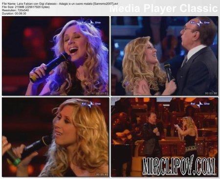 Lara Fabian Feat. Gigi D'Alessio - Adagio E Un Сuore Malato (Live, Sanremo, 2007)