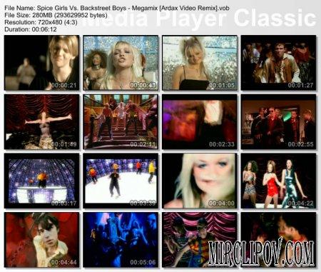 Spice Girls vs. Backstreet Boys - Megamix (Ardax Video Remix)