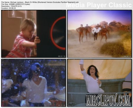 Michael Jackson - Black Or White (Shortened Version Excludes Panther Segment)