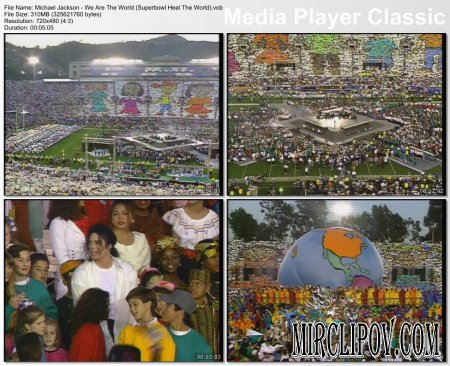 Michael Jackson - We Are The World (Superbowl Heal The World)