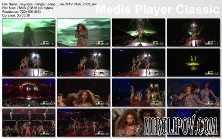 Beyonce - Sweet Dreams & Single Ladies (Live, MTV VMA, 2009)