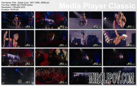 Pink - Sober (Live,  MTV VMA, 2009)