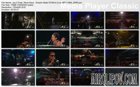 Jay-Z Feat. Alicia Keys - Empire State Of Mind (Live, MTV VMA, 2009)