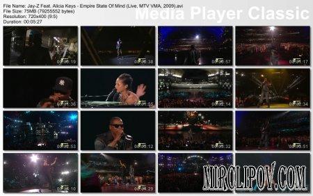 Jay-Z Feat. Alicia Keys - Empire State Of Mind (Live, MTV VMA, 2009)