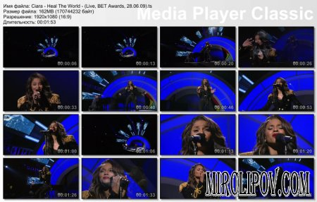 Ciara - Heal The World - (Live, BET Awards, 28.06.09)