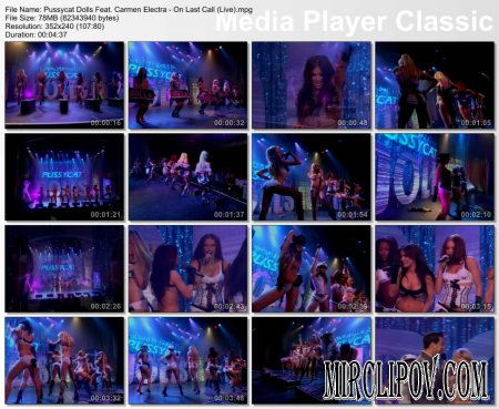 Pussycat Dolls Feat. Carmen Electra - On Last Call (Live)