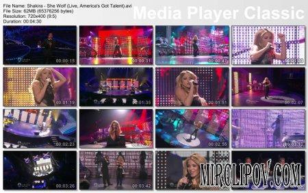 Shakira - She Wolf (Live, America's Got Talent)