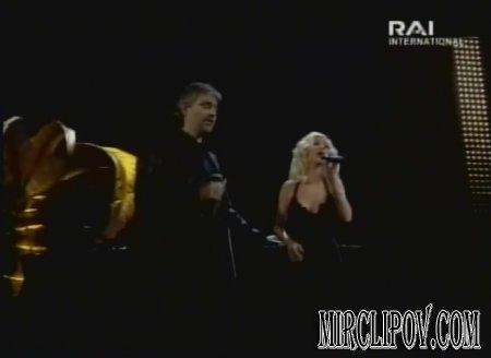 Christina Aguilera Feat. Andrea Bocelli - Somos Novios (Live, Sanremo, 2006)