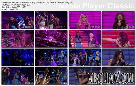 Fergie - Glamorous & Big Girls Don't Cry (Live, American Idol)