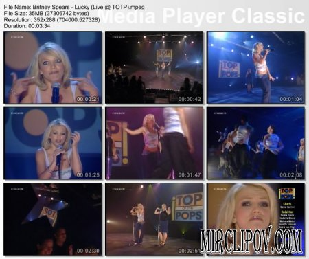 Britney Spears - Lucky (Live, TOTP)