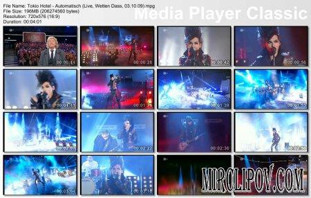 Tokio Hotel - Automatisch (Live, Wetten Dass, 03.10.09)