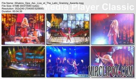 Shakira - Ojos Asi (Live, Latin Grammy Awards)