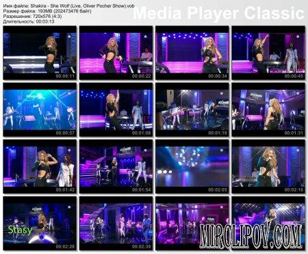 Shakira - She Wolf (Live, Oliver Pocher Show)