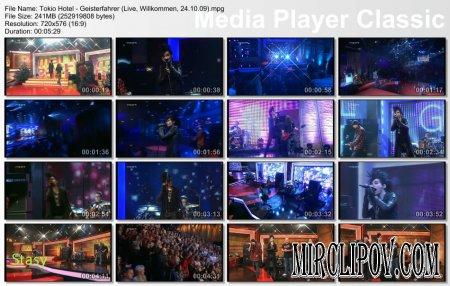 Tokio Hotel - Geisterfahrer (Live, Willkommen, 24.10.09)