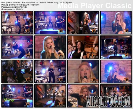 Shakira - She Wolf (Live, It's On With Alexa Chung, 20.10.09)