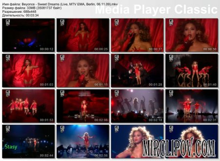 Beyonce - Sweet Dreams (Live, MTV EMA, Berlin, 06.11.09)