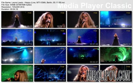 Leona Lewis - Happy (Live, MTV EMA, Berlin, 05.11.09)