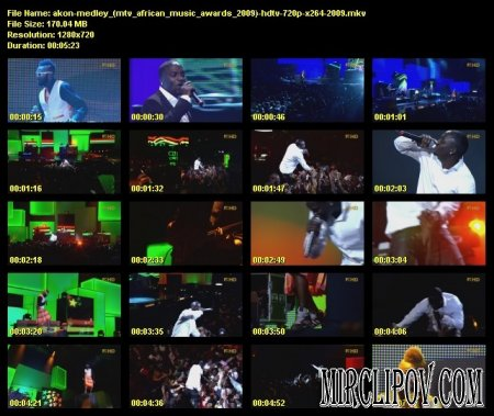 Akon - Beautiful & Mama Africa (Live, MTV Africa Music Awards)