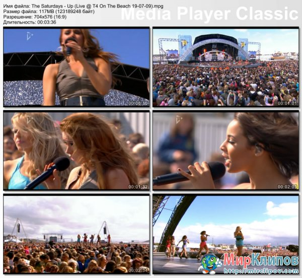 The Saturdays - Up (Live, T4 On The Beach)