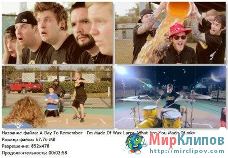 A Day To Remember - Im Made Of Wax Larry What Are You