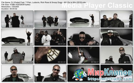 DJ Khaled Feat. T-Pain, Ludacris, Rick Ross & Snoop Dogg - All I Do Is Win