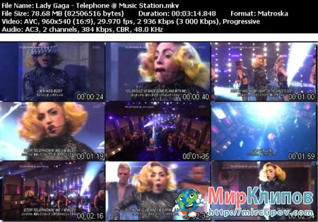 Lady Gaga - Telephone (Live, Music Station, Japan, 2010)