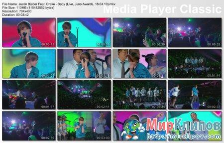 Justin Bieber Feat. Drake - Baby (Live, Juno Awards, 18.04.10)