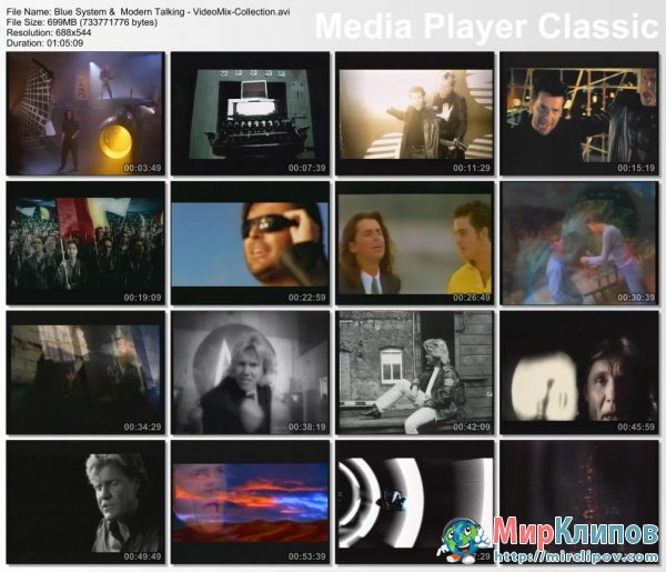 Blue System &  Modern Talking - SuperVideoMix 80's