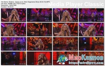 Shakira - Gypsy (Live, Ellen Degeneres Show 28.04.10)