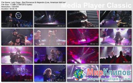 Lady Gaga - Bad Romance & Alejandro (Live, American Idol)