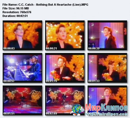 C.C.Catch - Nothing But A Heartache (Live)