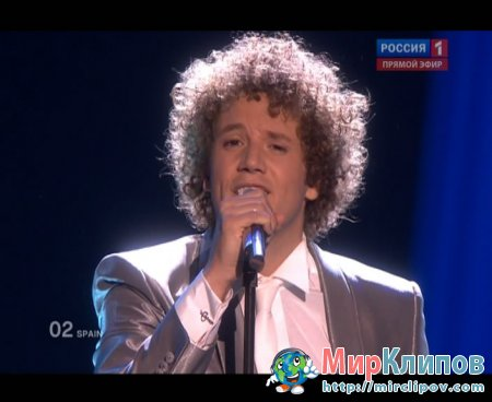 Daniel Diges (From Spain) - Algo Pequenito (Live, Eurovision, 29.05.2010)