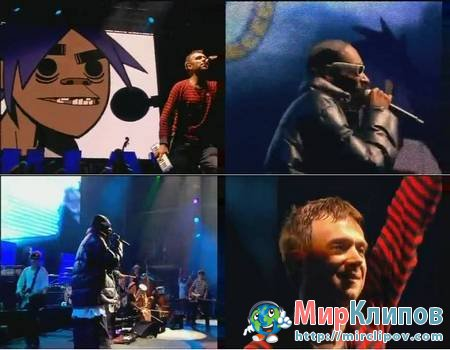 Gorillaz Feat. Snoop Dogg - Clint Eastwood (Live, Glastonbury, 2010)