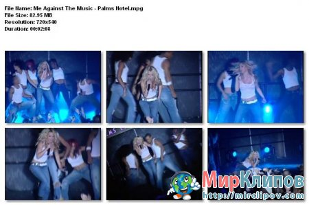 Britney Spears - Me Against The Music (Live, Palms Hotel)