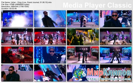 Usher - Omg (Live, Grand Journal, 01.06.10)