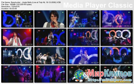 Basshunter - Jingle Bells (Live, Top Of The Pops, 16.12.2006)