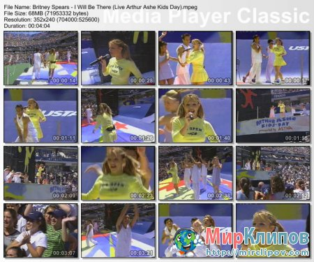 Britney Spears - I Will Be There (Live, Arthur Ashe Kids Day)