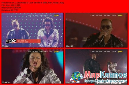 2 Unlimited - I Love The 90`s (Live, Ray & Anita)