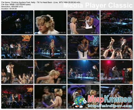 Christina Aguilera Feat. Nelly - Tilt Ya Head Back - (Live,  MTV VMA, 29.08.04)