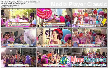 Katy Perry - California Gurls (Live, Today Show)