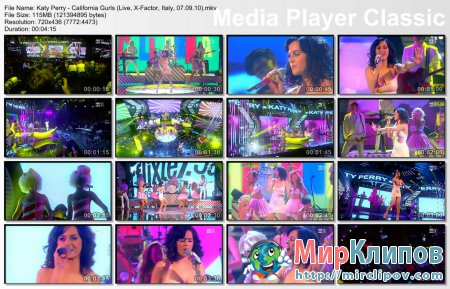 Katy Perry - California Gurls (Live, X-Factor, Italy, 07.09.10)