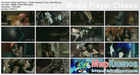 Black Eyed Peas - I Gotta Feeling (Vj Tony Video Mix)
