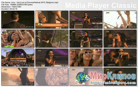 Inna - Hot (Live, Summerfestival, Belgium, 2010)