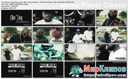 Rick Ross Feat. Slim Thug & Bun B - Paid The Cost To Be The Boss
