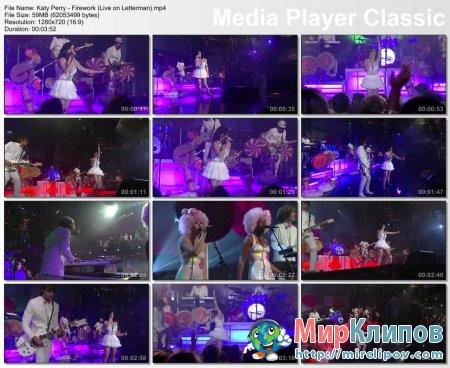 Katy Perry - Firework (Live, David Letterman Show)